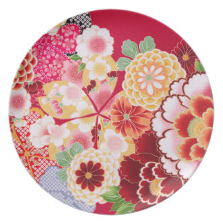 Falln Red Floral Burst Plate