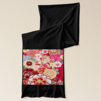 Falln Red Floral Burst Scarf