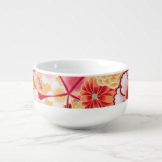 Falln Red Floral Burst Soup Mug