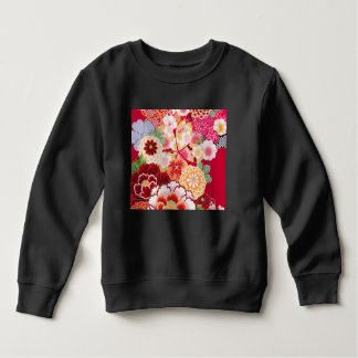 Falln Red Floral Burst Sweatshirt
