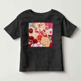 Falln Red Floral Burst Toddler T-shirt