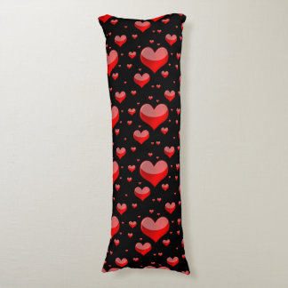 Falln Red Hearts (You Choose Background Color!) Body Pillow