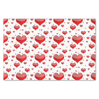 Falln Red Hearts (You Choose Background Color!) Tissue Paper