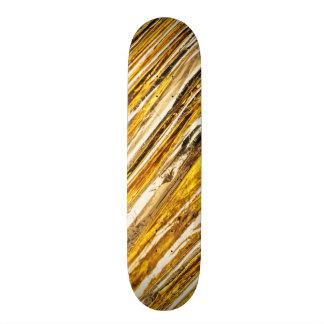 Falln Shimmering Gold Foil Custom Skate Board