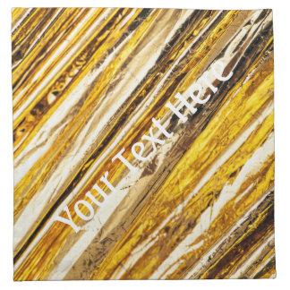 Falln Shimmering Gold Foil Napkin