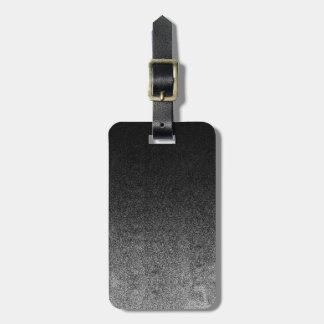 Falln Silver & Black Glitter Gradient Bag Tag