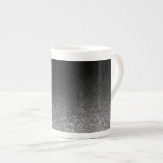 Falln Silver & Black Glitter Gradient Tea Cup