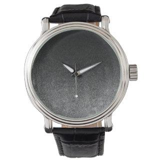 Falln Silver & Black Glitter Gradient Watches