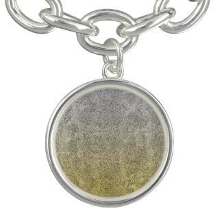 Falln Silver & Gold Glitter Gradient Charm Bracelet