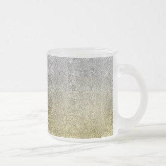 Falln Silver & Gold Glitter Gradient Frosted Glass Coffee Mug