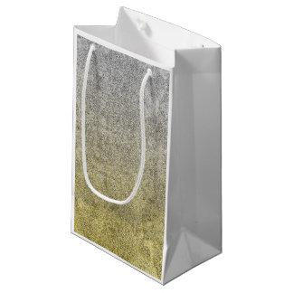 Falln Silver & Gold Glitter Gradient Small Gift Bag
