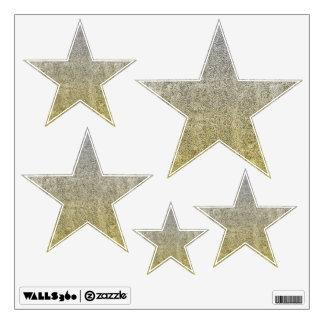 Falln Silver & Gold Glitter Gradient Wall Decal