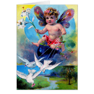 Falln Spring Time Fairy Card