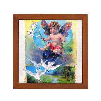 Falln Spring Time Fairy Desk Organizer