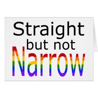 Falln Straight But Not Narrow (black text) Card