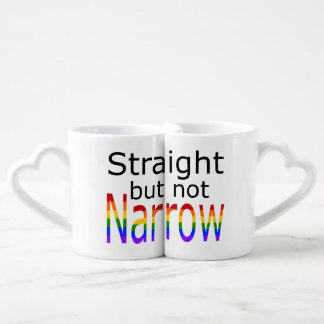 Falln Straight But Not Narrow (black text) Coffee Mug Set
