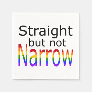 Falln Straight But Not Narrow (black text) Paper Napkins