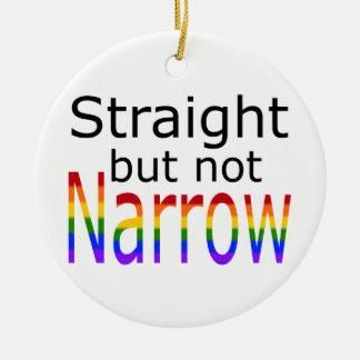Falln Straight But Not Narrow (black text) Round Ceramic Ornament