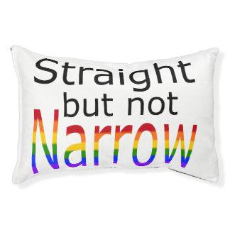 Falln Straight But Not Narrow (black text) Small Dog Bed