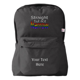Falln Straight But Not Narrow (white text) Backpack
