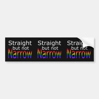 Falln Straight But Not Narrow (white text) Bumper Sticker