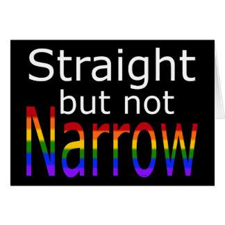 Falln Straight But Not Narrow (white text) Card