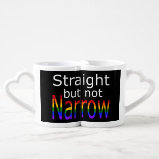 Falln Straight But Not Narrow (white text) Coffee Mug Set