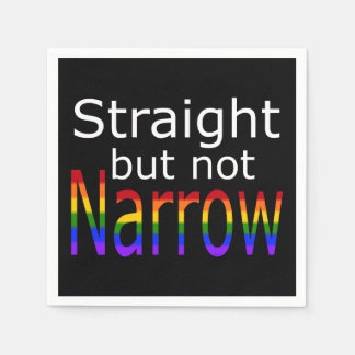 Falln Straight But Not Narrow (white text) Disposable Napkins