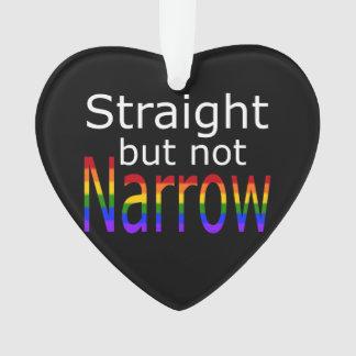Falln Straight But Not Narrow (white text) Ornament