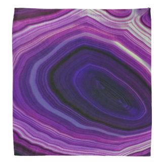Falln Swirled Purple Geode Bandana