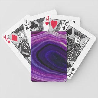 Falln Swirled Purple Geode Bicycle Playing Cards