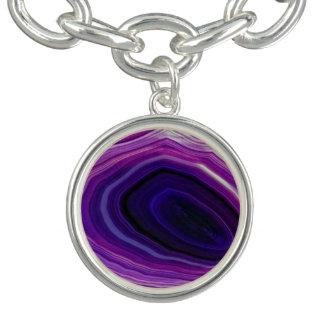 Falln Swirled Purple Geode Bracelets