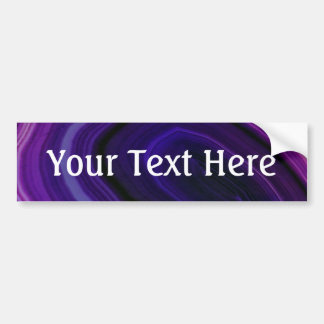 Falln Swirled Purple Geode Bumper Sticker