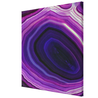 Falln Swirled Purple Geode Canvas Print
