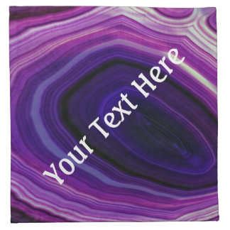 Falln Swirled Purple Geode Cloth Napkin
