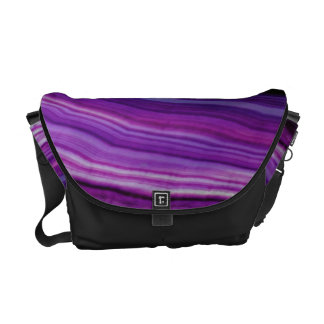 Falln Swirled Purple Geode Courier Bag