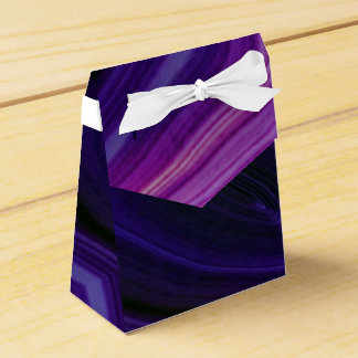Falln Swirled Purple Geode Favor Box