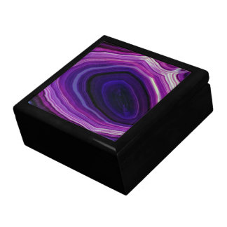 Falln Swirled Purple Geode Gift Box