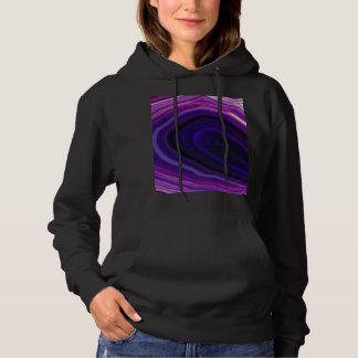 Falln Swirled Purple Geode Hoodie