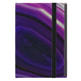 Falln Swirled Purple Geode iPad Mini Cover