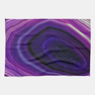 Falln Swirled Purple Geode Kitchen Towel