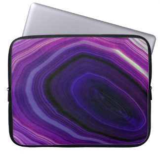 Falln Swirled Purple Geode Laptop Sleeve