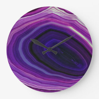 Falln Swirled Purple Geode Large Clock