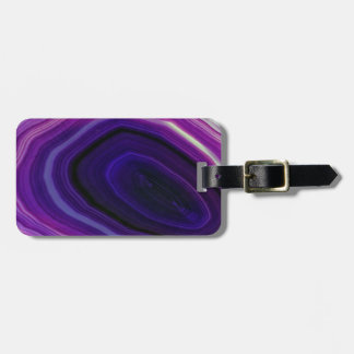 Falln Swirled Purple Geode Luggage Tag