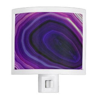 Falln Swirled Purple Geode Night Lite