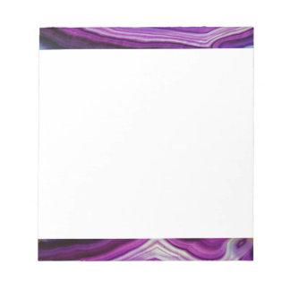 Falln Swirled Purple Geode Notepad