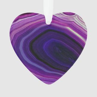 Falln Swirled Purple Geode Ornament