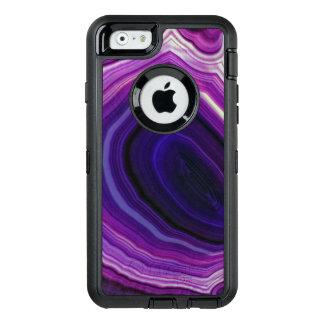 Falln Swirled Purple Geode OtterBox Defender iPhone Case