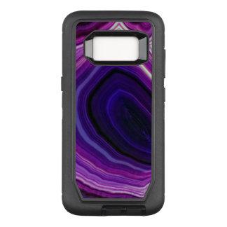 Falln Swirled Purple Geode OtterBox Defender Samsung Galaxy S8 Case