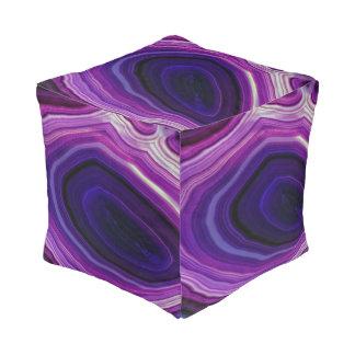 Falln Swirled Purple Geode Pouf